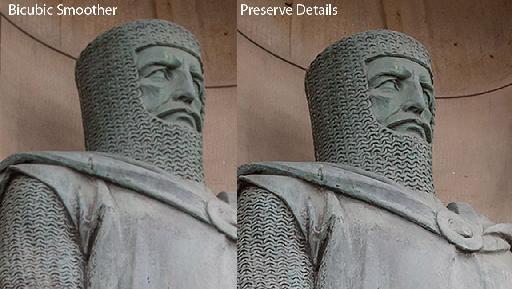 Preserve Details Resampling Method - Compare
