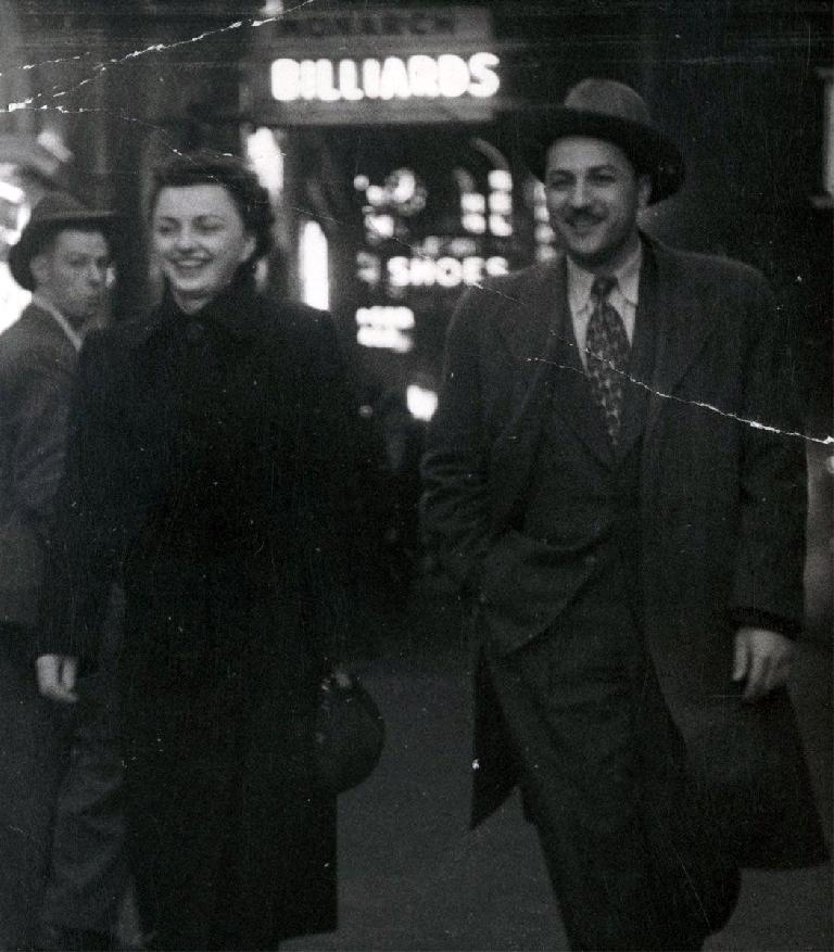 Grandma Alice Lehune (Born Laskiwski) & Grandpa Nikolay (Nicholas) Lehune - With Some Guy Creepin' Behind.