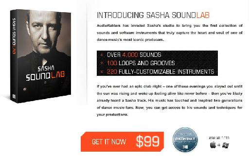 Sasha SoundLab is available through the AudioRaiders website.