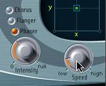 Adjusting the Phaser settings