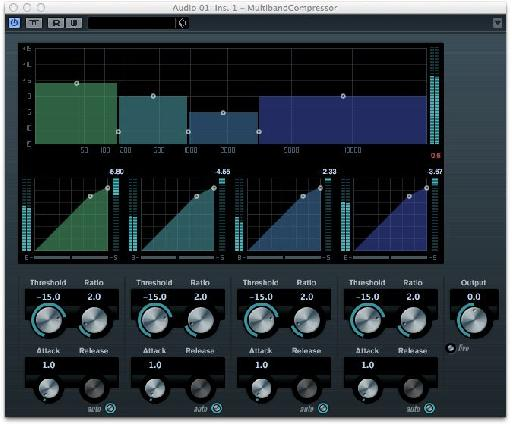 A multiband compressor can be useful for controlling bass that wanders from low to high during a track.