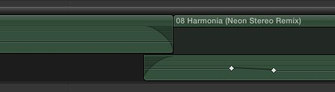 Here's one way to edit two pieces of music together in a secondary storyline.