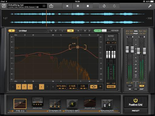Altering EQ using touch is actually really intuitive.
