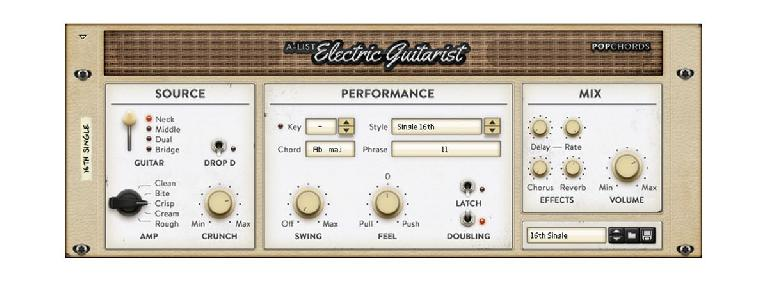 Propellerhead Pop Chords Electric Guitarist Interface.