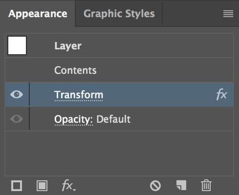 If you've never seen the Appearance panel, head to Window > Appearance and bring it up — it's how you change applied effects