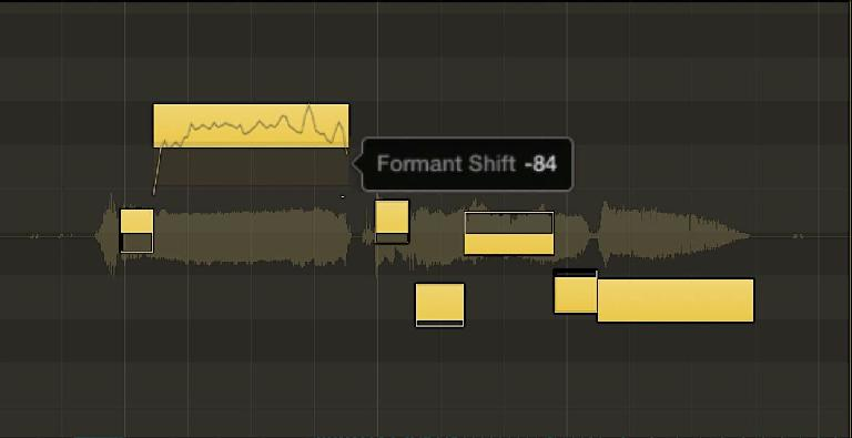 A pitch editor with Formant-shifting