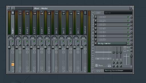 FL Studio 11 Mixer.