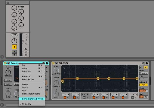 Saving my EQ8 Default Preset with Oversampling selected.