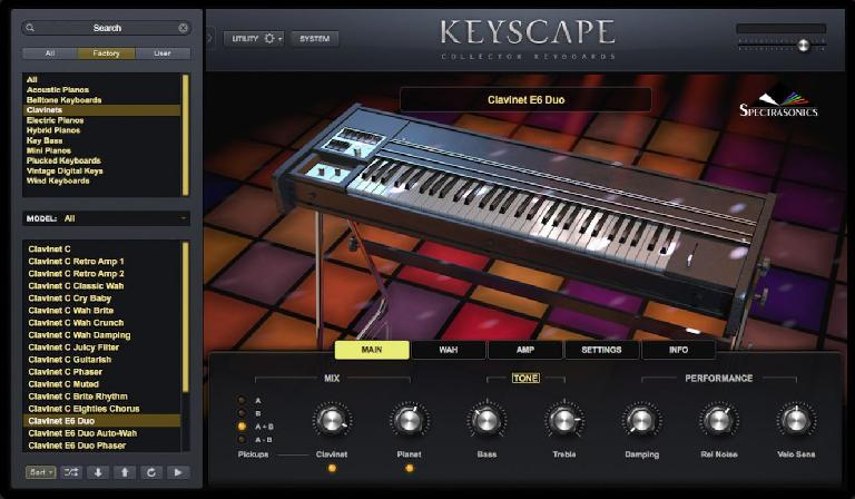 Screenshot from Spectrasonics Keyscape