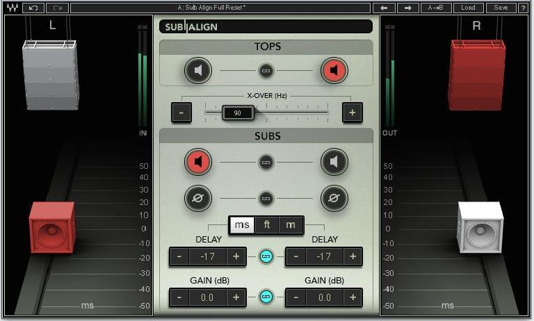 Waves Audio Sub Align plugin