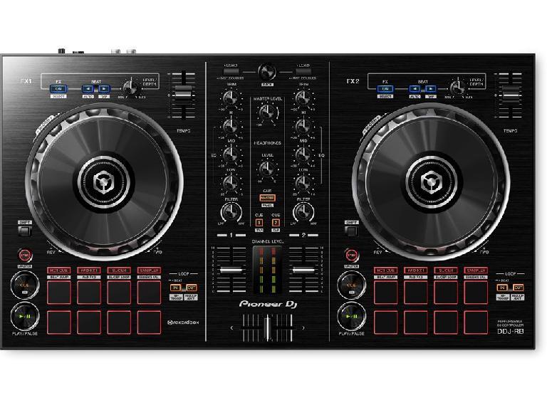 Pioneer DDJ-RB rekordbox DJ controller.