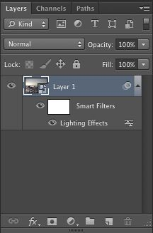 This is what a Smart Object should look like in the Layers panel.