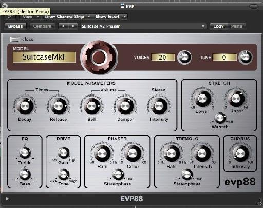 EVP88 Settings
