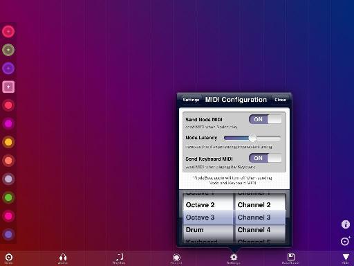 The MIDI Configuration Window.