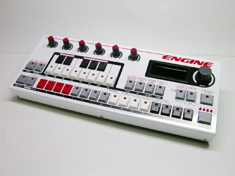 Social Entropy's Engine, polyrhythmic hardware sequencer comes in two colors: red...