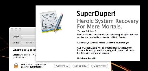 SuperDuper! Is installed.